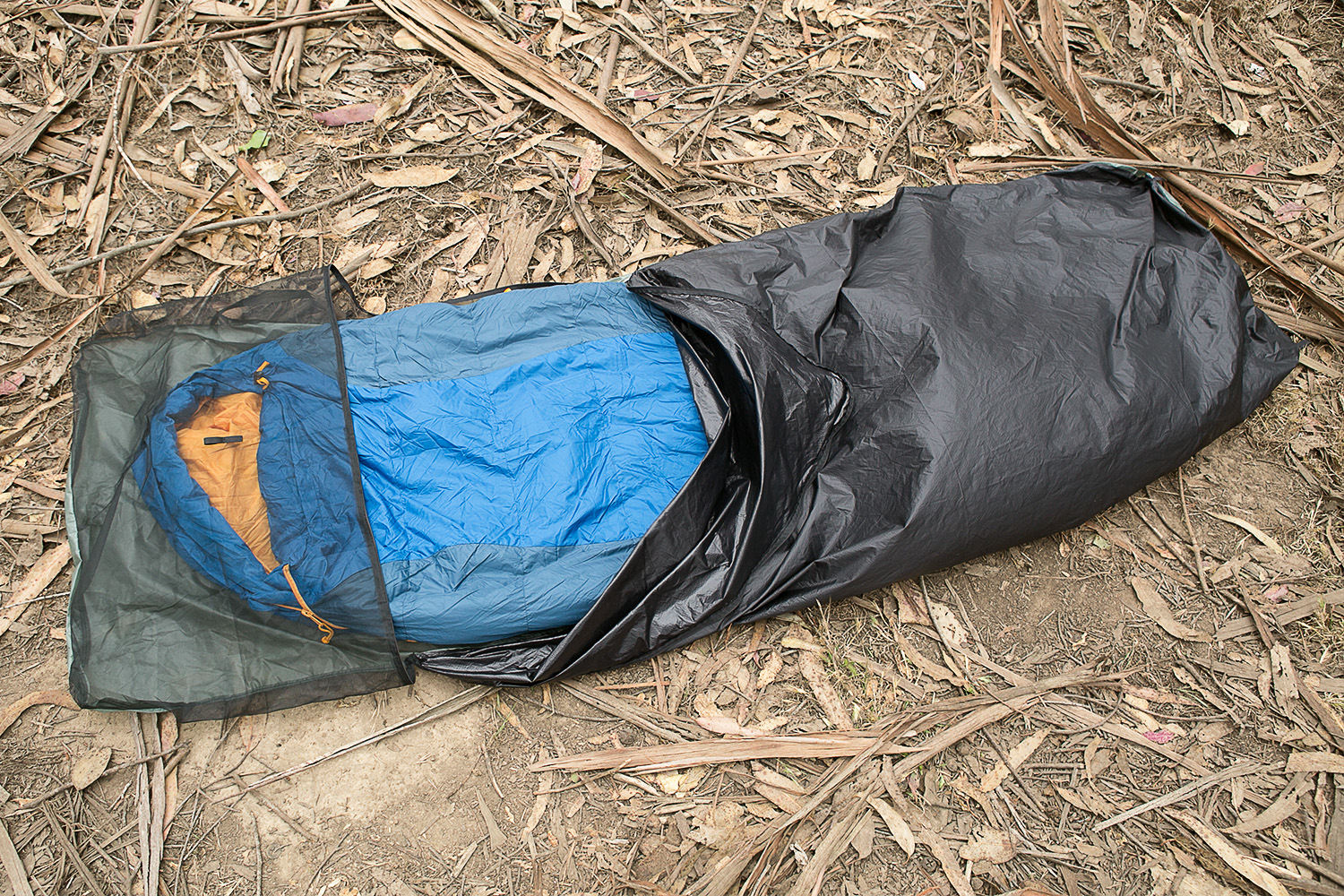 Side zipper ultralight bivy